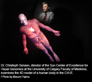 Dr. Christopher Sensen, director of the Sun Center of Excellence for Visual Genomics 